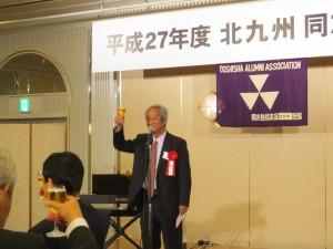 長谷川副会長・乾杯